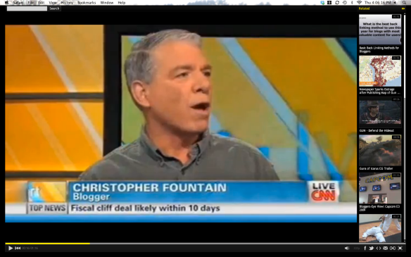 Chris Fountain on TV, now he MUST be famous.