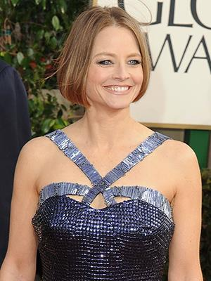 Jodie Foster at the Golden Globes...looked absolutely fabulous, but surely drunk by the time she got up to speak.