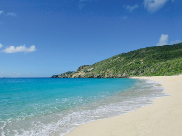 "St. Barth's beautiful ""Saline Beach"", not a nudist in sight that day!"
