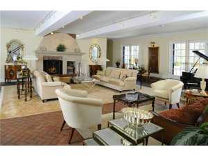 17 Copper Beech Road, Greenwich, $3.995M.  Pictured: The living room. And the rest of the house is just as cool, unique, amazing.