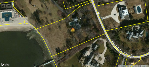 40 Field Point Circle, tear-down on 3.52 acres of waterfront on Greenwich's most expensive street.