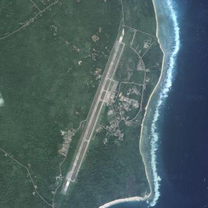 "Full-size runway on the island of ""Car Nicobar"", in the Adaman Sea...(see BingMaps link)"