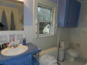 Here's that bathroom again, different angle, same (nearly finished) roll of toilet paper...
