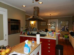 I'm not claiming my kitchen looks any cleaner, but seriously, couldn't we clear the counters, just for the photo?