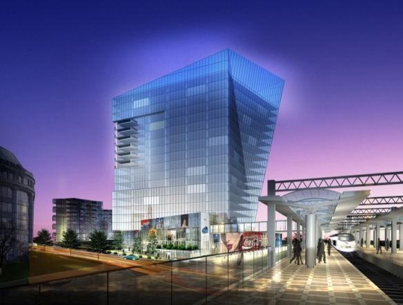 James Bond's arch-enemy, Spector Group plans this exciting building for downtown Stamford.