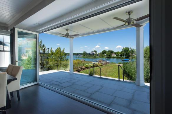 Dining room view at North Cross Way, Old Greenwich, $5.4M. Listed by Lisa Weicker.