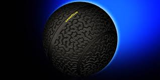 This thing is your new tire. Four of them will be magnetically attached to your car and will allow you to go in any direction, including sideways. Watch the video!