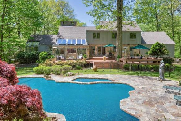 67 Sumner Road, Greenwich closes at $1,550,000. For that, you agree to live 8 miles outta town BUT, you get a nice big 5-bedrm contemporary on 4.87 acres, a pool, a tennis court, decks, terraces, 5-car garage, etcetera, etcetera, etcetera!