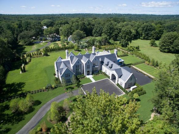 11 Round Hill Club Road, quite spectacular, and you can drive home in your little golf cart! Priced at $16.950M, it is Greenwich's most expensive spec house. List: Chris Finlay